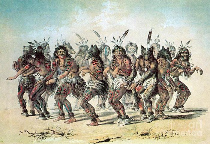 В жизни индейцев танцы занимали большое место, чаще всего как часть обрядов. Но иногда танцевали просто на праздник.